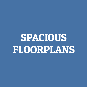 spacious floorplans